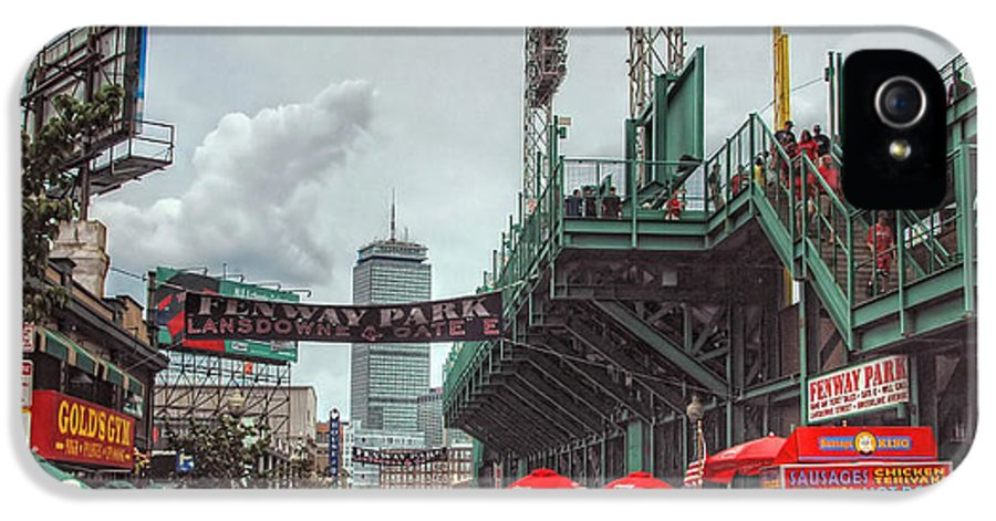 Red Sox IPhone 5 Case featuring the photograph Fenway Bustle by Joann Vitali