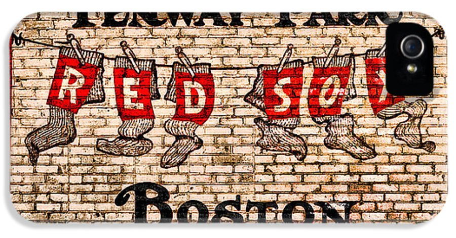 Fenway Park Boston Redsox Sign IPhone 5 Case featuring the photograph Fenway Park Boston Redsox Sign by Bill Cannon
