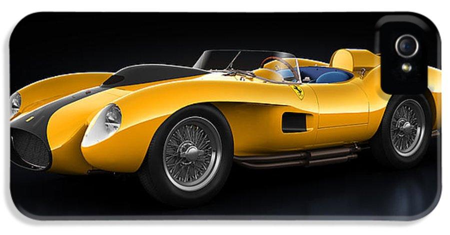 Transportation IPhone 5 Case featuring the digital art Ferrari 250 Testa Rossa - Bloom by Marc Orphanos