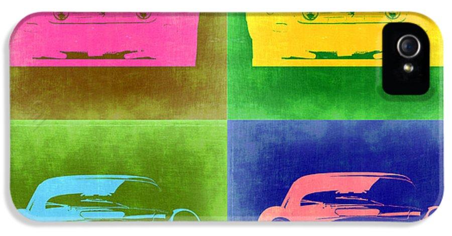 Ferrari 250 Gtb IPhone 5 Case featuring the painting Ferrari Front Pop Art 3 by Naxart Studio