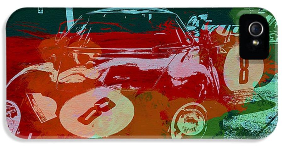 Ferrari 250 Gtb IPhone 5 Case featuring the painting Ferrari Laguna Seca Racing by Naxart Studio