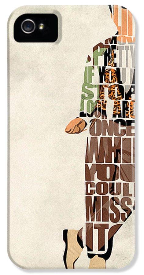 Ferris Bueller IPhone 5 Case featuring the drawing Ferris Bueller's Day Off by Ayse Deniz