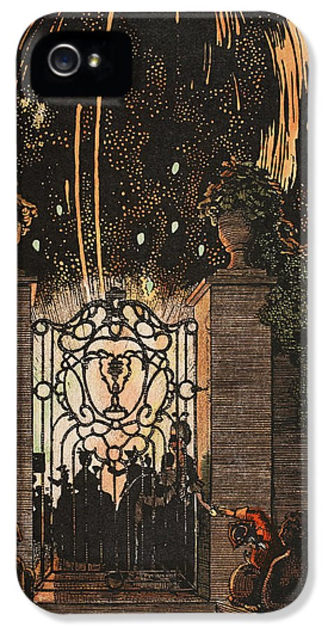 Somov IPhone 5 Case featuring the painting Feu D Artifice by Konstantin Andreevic Somov