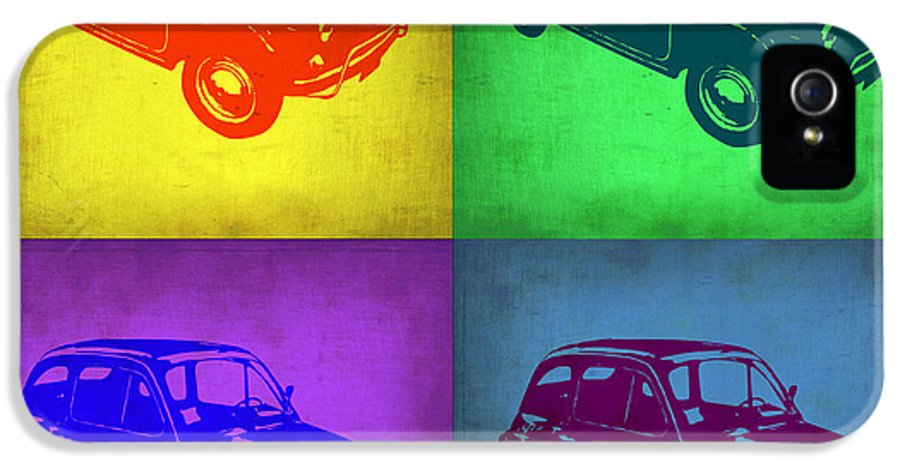 Fiat IPhone 5 Case featuring the painting Fiat 500 Pop Art 1 by Naxart Studio