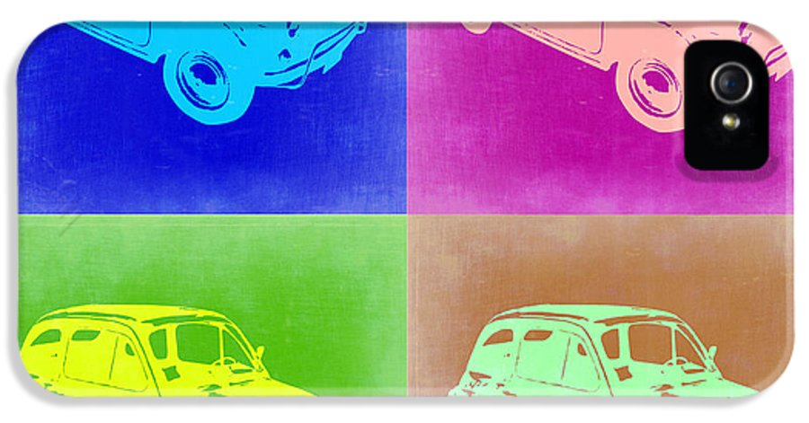 Fiat IPhone 5 Case featuring the painting Fiat 500 Pop Art 2 by Naxart Studio
