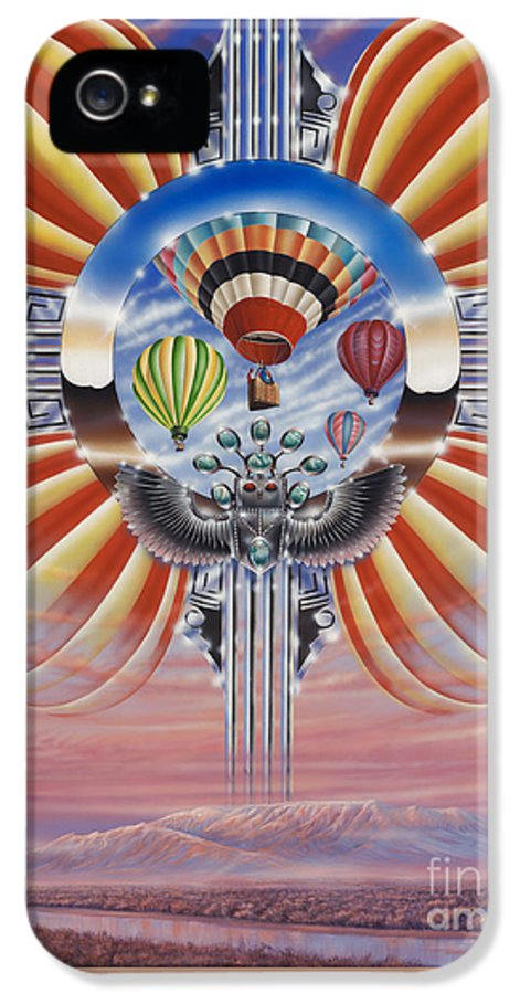 Balloons IPhone 5 Case featuring the painting Fiesta De Colores by Ricardo Chavez-Mendez