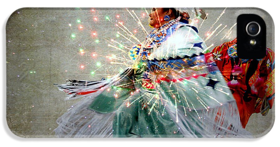 Fireworks IPhone 5 Case featuring the photograph fire Dance by Irma BACKELANT GALLERIES