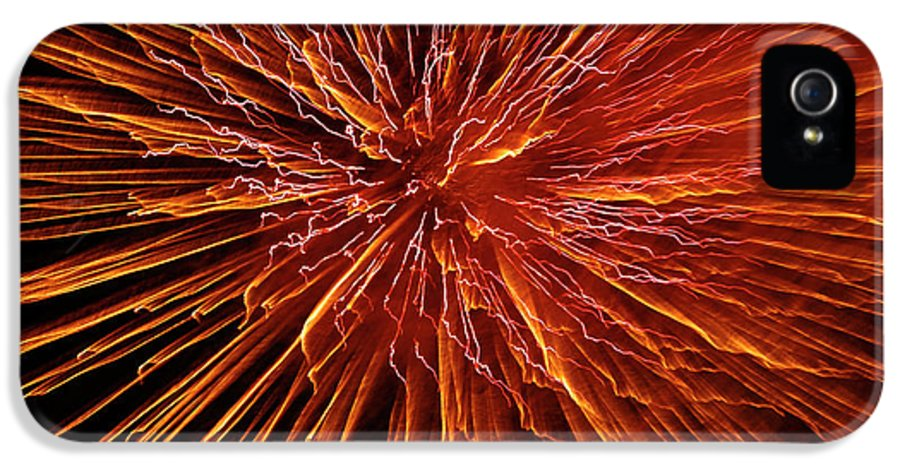 Fireworks IPhone 5 Case featuring the photograph Fire In The Sky by Carolyn Marshall
