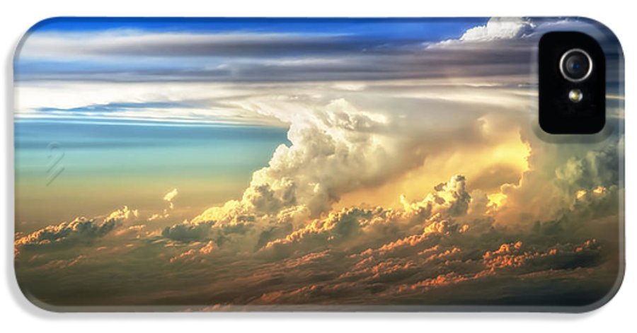 Sunset IPhone 5 Case featuring the photograph Fire In The Sky From 35000 Feet by Scott Norris