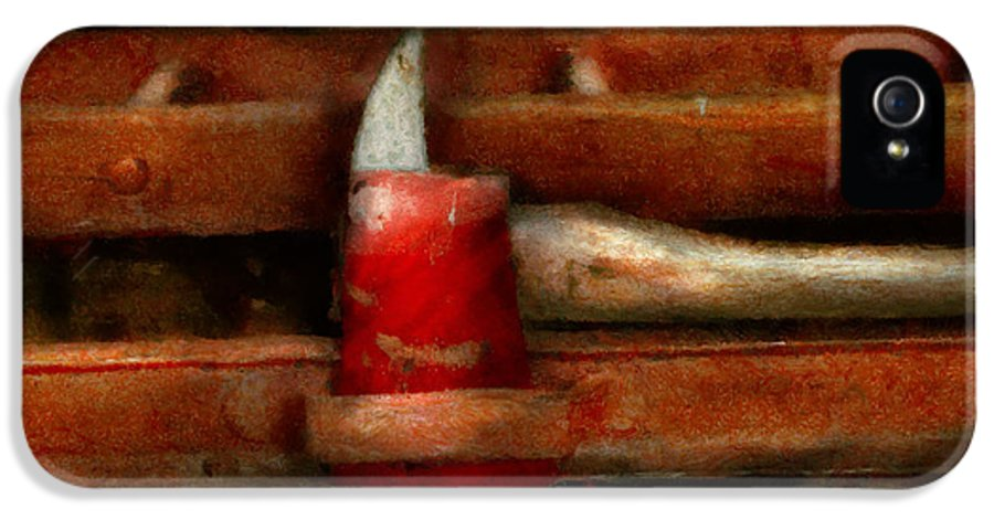 Fireman IPhone 5 / 5s Case featuring the photograph Fireman - The Fireman's Axe by Mike Savad
