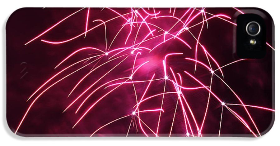 Night IPhone 5 Case featuring the photograph Rockets Red Glare Fireworks by Howard Tenke