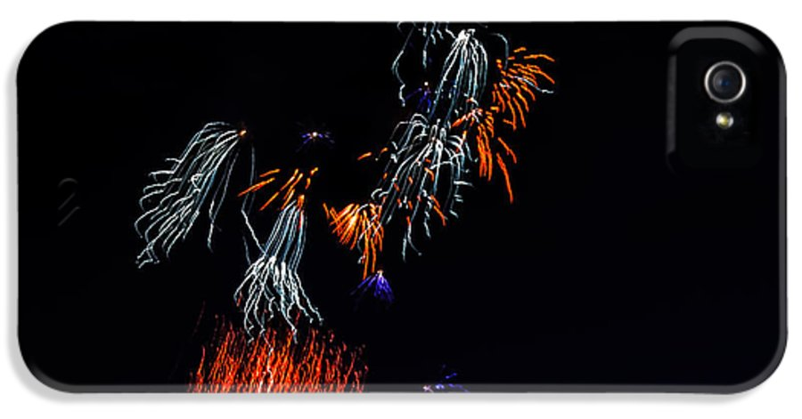 Fireworks IPhone 5 Case featuring the photograph Fireworks Abstract by Robert Bales