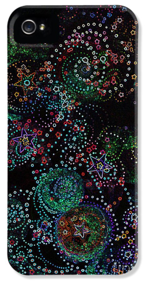 Firststarart IPhone 5 Case featuring the mixed media Fireworks Celebration By Jrr by First Star Art