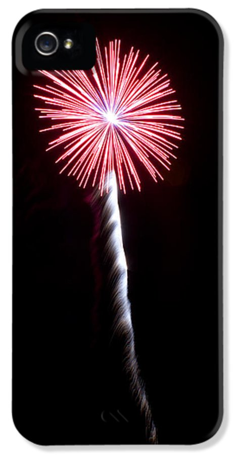 Fireworks IPhone 5 Case featuring the photograph Fireworks Flower by Dwayne Schmidt