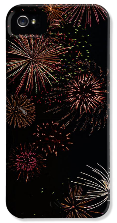 Gregscott IPhone 5 Case featuring the photograph Fireworks - Phone Case Design by Gregory Scott