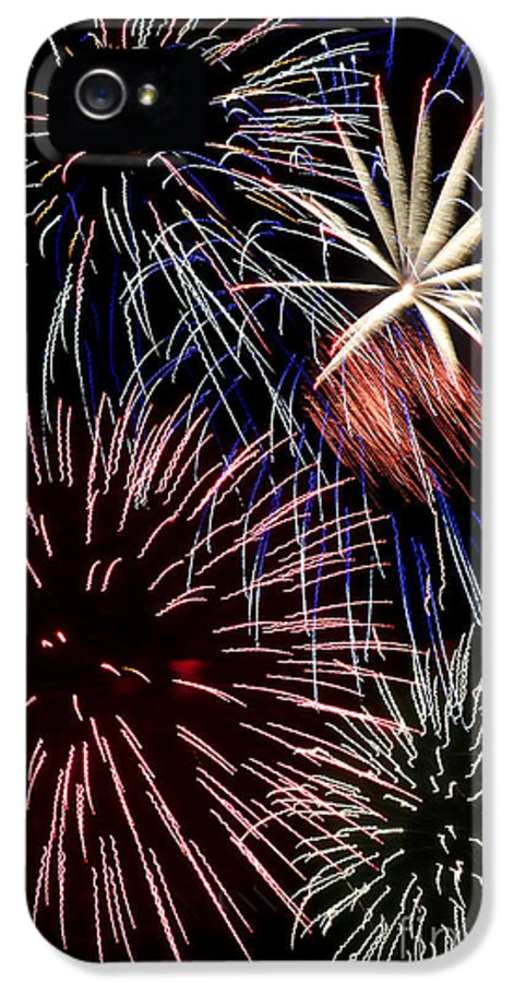 Fireworks IPhone 5 Case featuring the photograph Fireworks Spectacular by Jim and Emily Bush