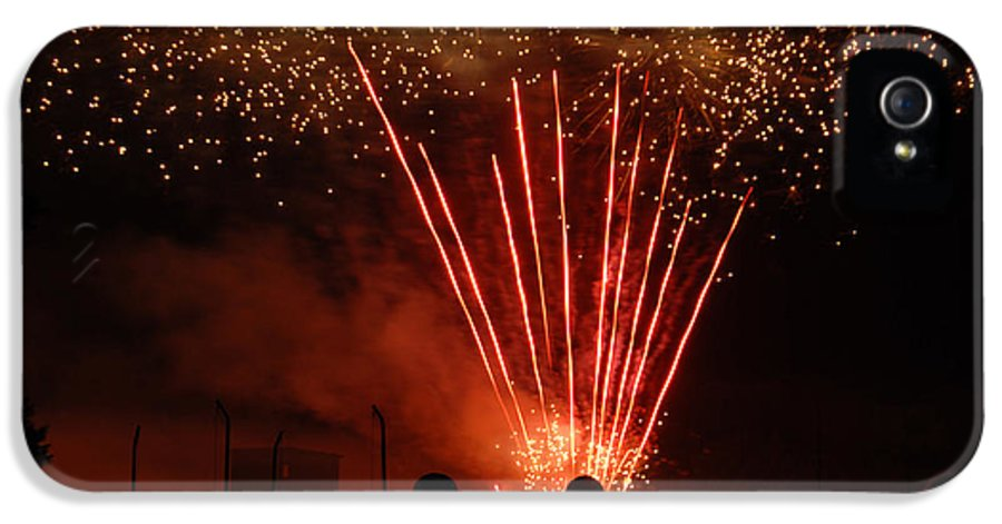 4th IPhone 5 Case featuring the photograph Fireworks by Vonnie Murfin