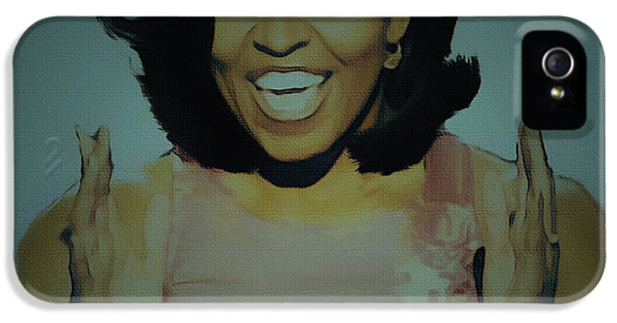 Michelle Obama IPhone 5 Case featuring the painting First Lady by Brian Reaves