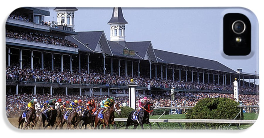 Thoroughbred IPhone 5 Case featuring the photograph First Saturday In May - Fs000544 by Daniel Dempster