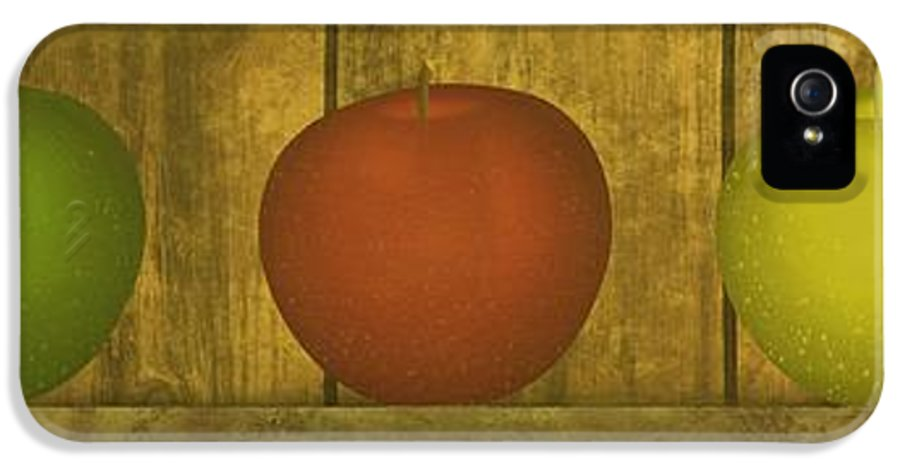Apple IPhone 5 Case featuring the digital art Five Apples by David Dehner
