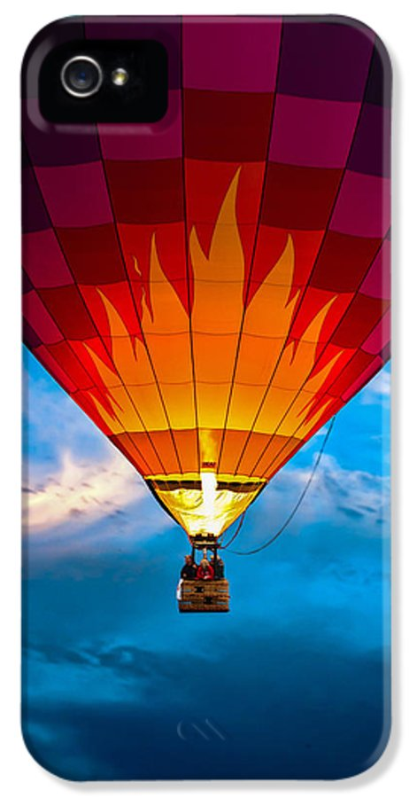 Hot Air Balloon IPhone 5 Case featuring the photograph Flame With Flame by Bob Orsillo