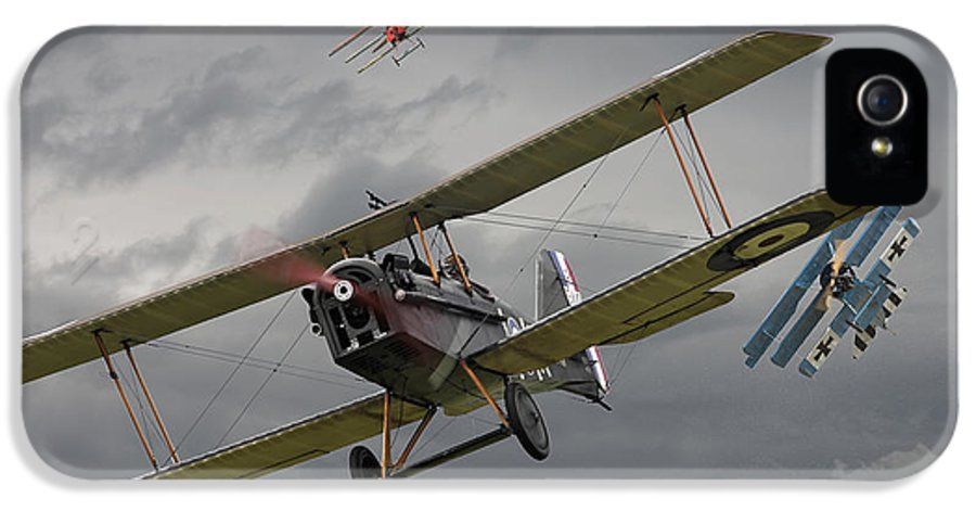Aircraft IPhone 5 Case featuring the digital art Flander's Skies by Pat Speirs
