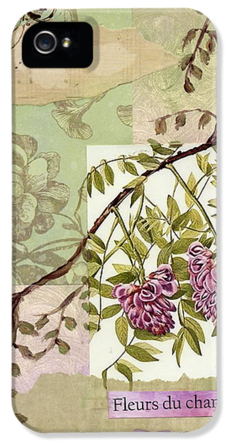 Flowers Of The Field IPhone 5 Case featuring the painting Fleurs Du Champ by Tamyra Crossley
