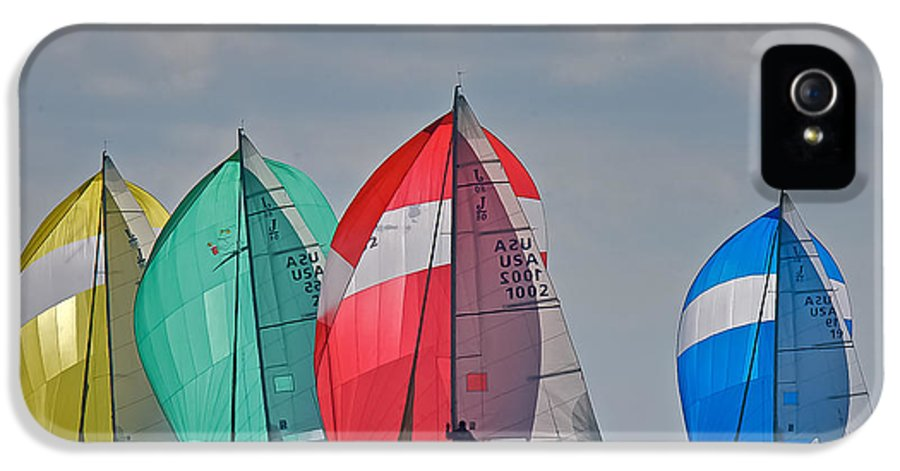 Spinnaker IPhone 5 Case featuring the photograph Florida Spinnakers by Steven Lapkin