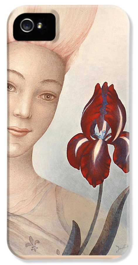 Flower Fairy IPhone 5 Case featuring the painting Flower Fairy by Judith Grzimek