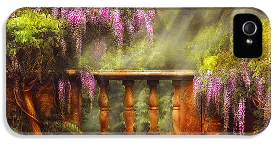 Savad IPhone 5 Case featuring the photograph Flower - Wisteria - A Lovers View by Mike Savad