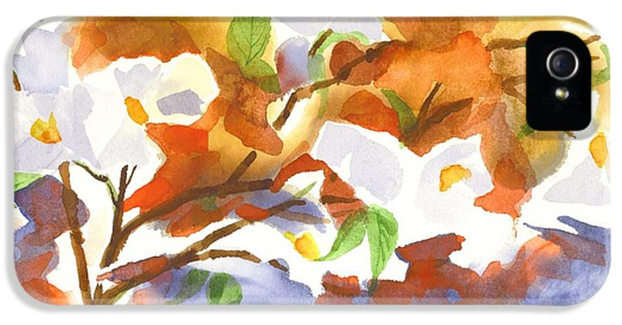 Flowering Dogwood Iii IPhone 5 Case featuring the painting Flowering Dogwood IIi by Kip DeVore