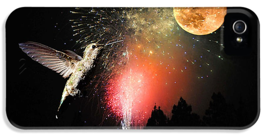 Moon IPhone 5 Case featuring the photograph Fly Me To The Moon by Lynn Bauer
