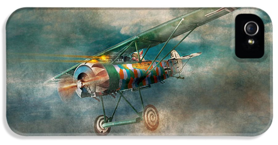 Wwi IPhone 5 Case featuring the digital art Flying Pig - Acts Of A Pig by Mike Savad