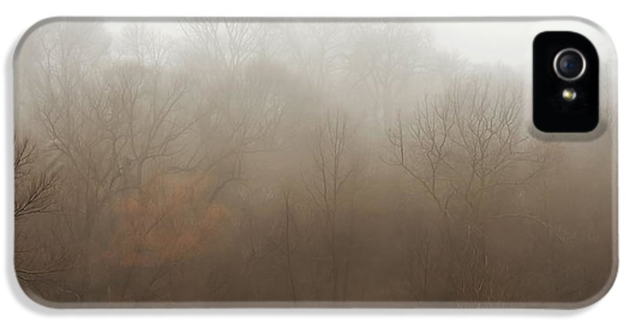 Fog IPhone 5 Case featuring the photograph Fog Riverside Park by Scott Norris