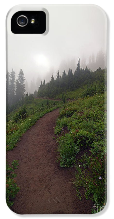 Crest Trail IPhone 5 Case featuring the photograph Foggy Crest Trail by Mike Dawson