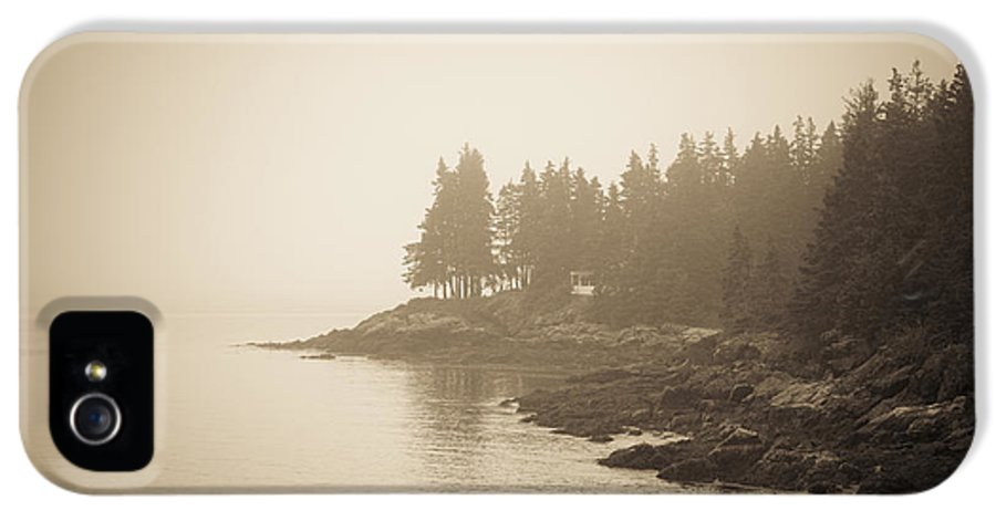 Maine IPhone 5 Case featuring the photograph Foggy Maine Coast by Diane Diederich