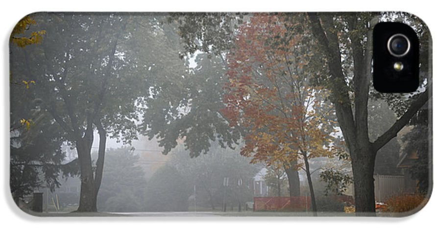 Foggy IPhone 5 / 5s Case featuring the photograph Foggy Street by Elena Elisseeva