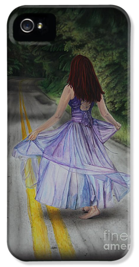 Jackie Mestrom IPhone 5 Case featuring the painting Follow Your Path by Jackie Mestrom