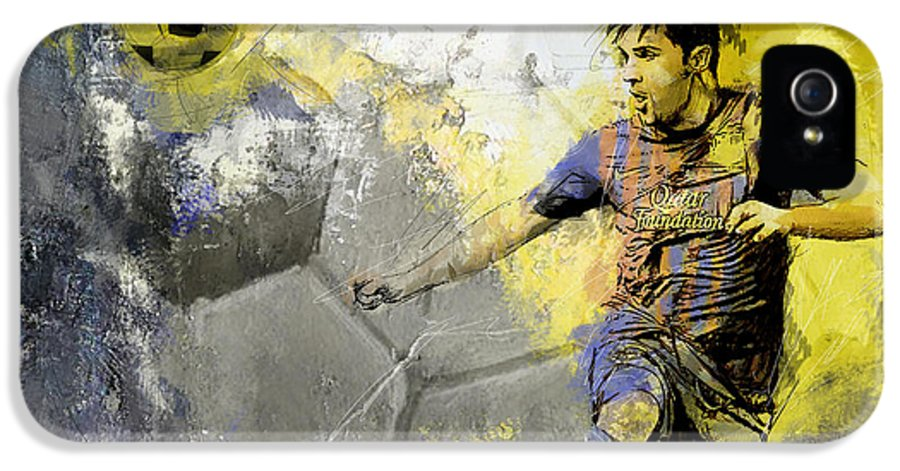 Sports IPhone 5 Case featuring the painting Football Player by Catf