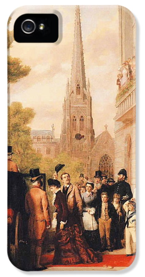 William Powell Frith IPhone 5 Case featuring the digital art For Better For Worse by William Powell Frith