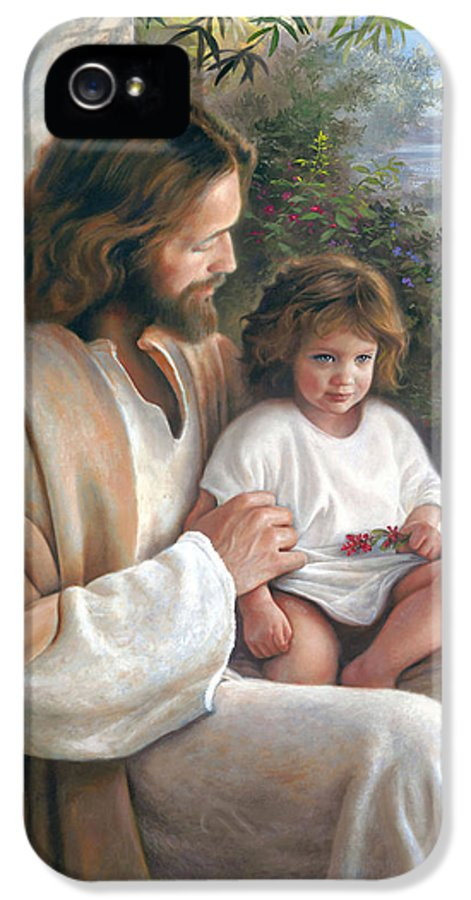 Jesus IPhone 5 Case featuring the painting Forever And Ever by Greg Olsen