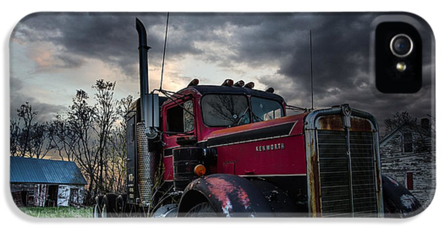 Forgotten IPhone 5 Case featuring the photograph Forgotten Big Rig by Aaron J Groen