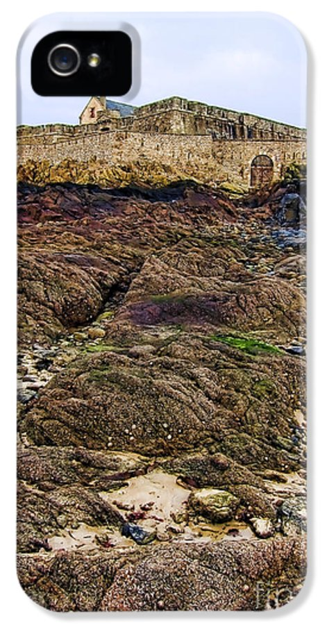 France IPhone 5 Case featuring the photograph Fort National In Saint Malo Brittany by Olivier Le Queinec