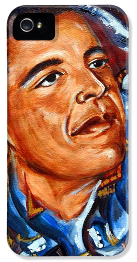 President Obama IPhone 5 Case featuring the painting Forward by Harsh Malik