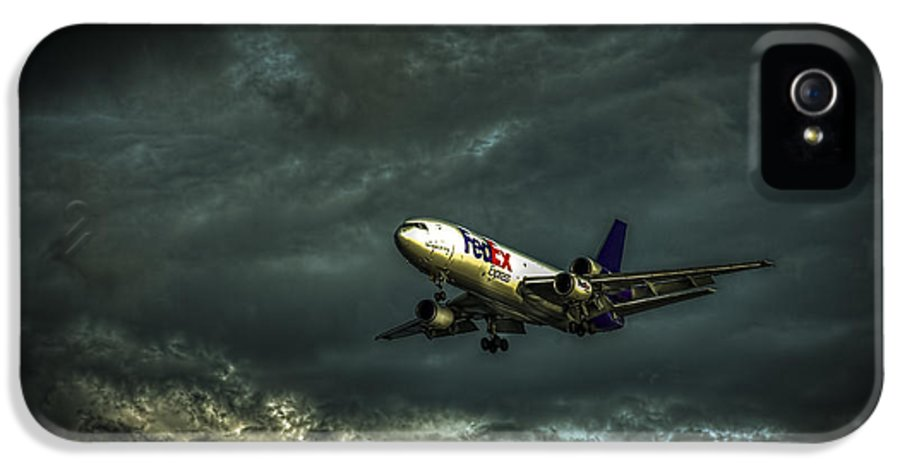 Jets IPhone 5 Case featuring the photograph Foul Weather Fedex by Marvin Spates