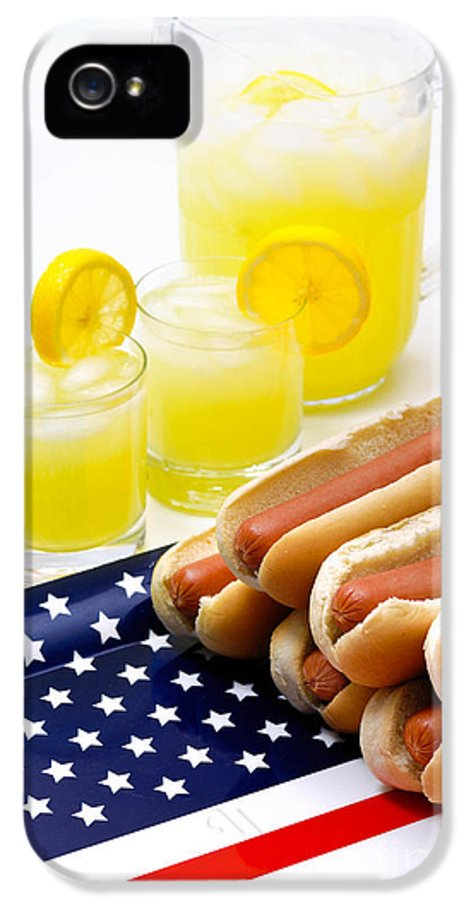4th Of July IPhone 5 Case featuring the photograph Fourth Of July Hot Dogs And Lemonade by Amy Cicconi