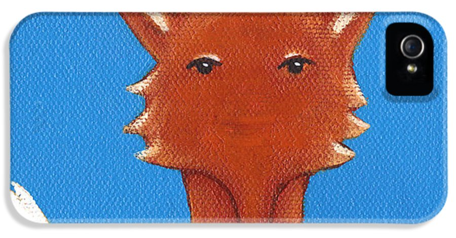 Fox IPhone 5 Case featuring the painting Fox by Christy Beckwith