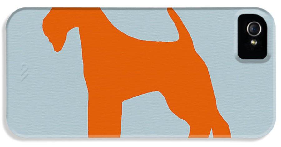 Fox Terrier IPhone 5 Case featuring the digital art Fox Terrier Orange by Naxart Studio
