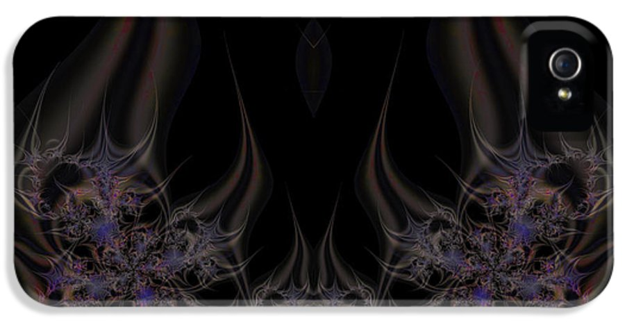 Fractal IPhone 5 Case featuring the digital art Fractal 00052 by George Cuda