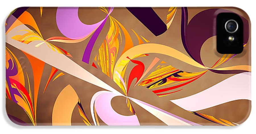 Abstract IPhone 5 Case featuring the digital art Fractal - Abstract - Space Time by Mike Savad